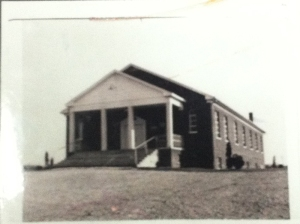 where the church of Christ  @ Jere Whitson Road meets back in 1955